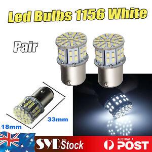 Pair 1156 BA15S 3014 50Led Turn Signal Tail Corner Backup Reserve Lights White
