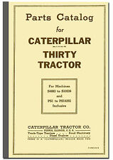 Caterpillar Thirty 30 Operators Book and Parts Catalogue Tractor Manuals