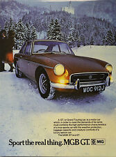 MGB GT advert print, boxed