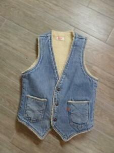 vintage LEVIS Orange Tab SHERPA Line Vest DENIM Jean SMALL