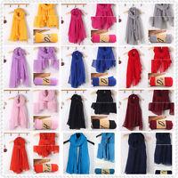 Stock Warm Lady Women Long Scarf Wraps Shawl Stole Fashion Scarves Spring