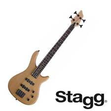 STAGG 3/4 SIZE 4-STRING FUSION ELECTRIC BASS GUITAR NATURAL FINISH - BC300 NS