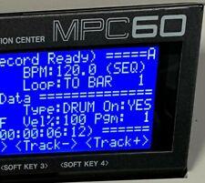 Akai MPC60 LUX (Negative) Tri-Axis Blue LED Display !
