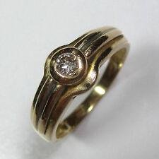 Aparter Ring aus Gelbgold 585 mit Brillant etwa 0,12 Carat - 556-1915