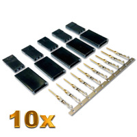 10 Stück Male Servo Stecker Vergoldet JR Graupner Futaba kompatibel Crimp Pins
