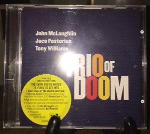 JOHN McLAUGHLIN JACO PASTORIOUS TONY WILLIAMS- Trio Of Boom CD Rare Pristine