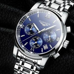 relogio masculino GUANQIN Mens Watches Top Brand Luxury Fashion Business Quartz