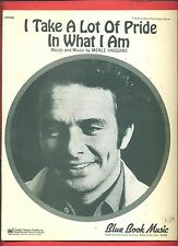 MERLE HAGGARD I TAKE A LOT OF PRIDE IN WHAT I AM PIANO/V/GUITAR SHEET MUSIC 1968