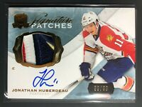 2014-15 Upper Deck The Cup Johnathan Huberdeau Signature Patches 4 CLR Auto /99