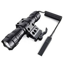 QD 45° Offset Mount 1000 Lumens L2 LED Tactical Flashlight Torch With Switch