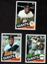 SF GIANTS 3 DIFF 2020 TOPPS UPDATE '85 TOPPS INSERTS MAYS McCOVEY LINCECUM