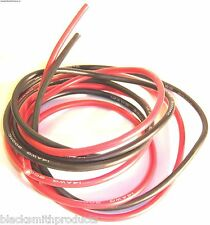 12AWG 12 AWG Silicone Wire Pair 50cm 500mm Black & Red