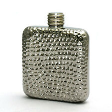 4OZ High Quality stainless steel hip flask silver hammer finish