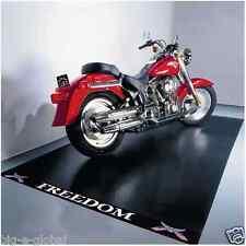 MIDNIGHT BLACK - Heavy Duty Large Garage Motorcycle Mat Floor Protector 10' x 5'