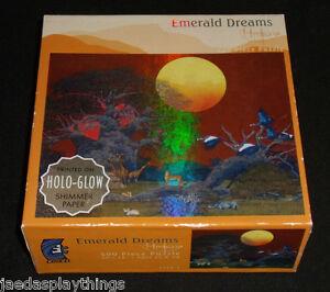 Emerald Dreams Puzzle Holo-Glow 500 Piece Ceaco NEW Sealed Unopened
