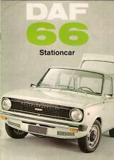 Daf 66 1100 Stationcar 1972-75 Dutch Market Brochure De Luxe Super Luxe Estate