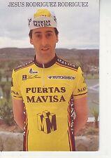 CYCLISME carte cycliste JESUS RODRIGUEZ RODRIGUEZ équipe PUERTAS MAVISA