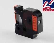 1 x D1 Nastro Cartuccia 45017 Nero/Rosso 12 mm da 7 M per stampanti DYMO LABEL MANAGER