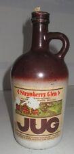 Vintage Strawberry Glen Wine Jug & Lid Mogin David Wine Co Westfield NY 4/5 Quar