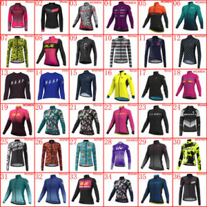 Womens Cycling Jersey Bicycle Long Sleeve Tops Ladies Bike Shirt Sports Uniform