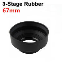67mm 3 Stage Collapsible Rubber Lens Hood Sun Shade For Canon Nikon Sony Camera