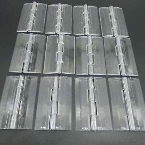 US Stock 12pcs Clear PMMA Acrylic Plastic Folding Plexiglass Hinge 65 x 42mm