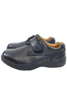 $145 Dr Comfort WILLIAM 6310 Men 13 X Wide Black Leather Comfort Diabetic Shoes
