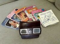LOT- 1950s bakelite Viewmaster & 25 reels - Donald Duck, Hawaii, Circus, Etc