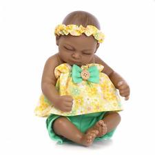 Realistic Lifelike Newborn African American Sweet Sleeping Baby Girl Doll