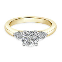 Solitaire 1.84Ct Diamond Hallmark 14K Yellow Gold Womens Engagement Ring Size N
