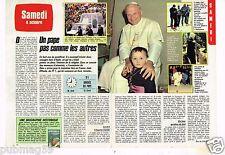 Coupure de presse Clipping 1986 (2 pages) Pape Jean paul II