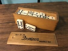 Vintage Set Of 28 Dominos Double Six