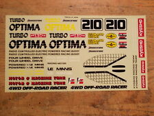 OT-68 Decal - Kyosho Turbo Optima
