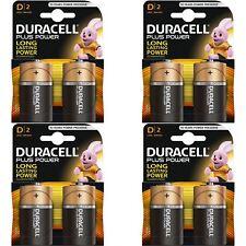 8 x Duracell Plus Power Type D Alkaline Batteries Pack - LR20 MN1300 MX1300 Mono