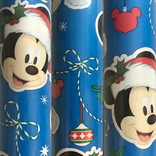 1 Roll Blue Disney Christmas Gift Wrapping Paper 70 sq ft