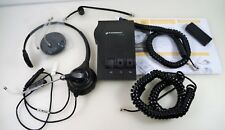 Plantronics H251 Black Headset & M12 Vista Headset Amplifier W Accessories