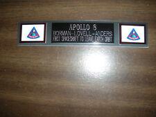 APOLLO 8 (NASA) NAMEPLATE FOR PHOTO/DISPLAY
