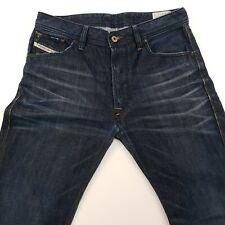 Diesel BRAVEFORT Mens Jeans W30 L30 Blue Regular Carrot Button Fly 100% Cotton