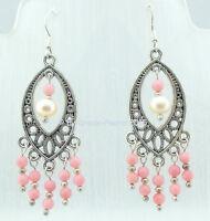 ♥ Dream-Pearls Ohrhänger Perlen Koralle rosa 925 Silber ♥ OH044