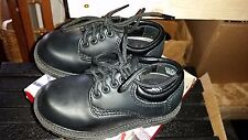 Buster Brown Connor Toddler Boys Tie Black Shoes Size 7 1/2M MSRP$30 #0514-06
