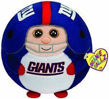 "Ty Beanie Ballz New York Giants 8"" - Medium Nfl Baseball Plush Stuffed Ball Toy"