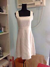 Off-White Textured Sleeveless Dress Low Bid