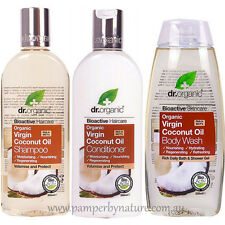 Dr Organic Virgin Coconut Oil Shampoo, Conditioner & Body Wash Pack