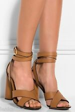 Gucci Runway Biscotto Candy Ankle Wrap Sandals 38.5 8.5