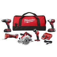 Cordless Power Tool Set Kit 5-Tool Multi-Tool 2 Batteries Charger Bag M18 NEW