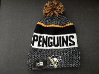 NHL New Era Pittsburgh Penguins Knit Beanie Winter Pom Knit Cap Hat NWT