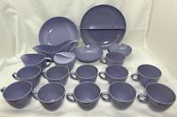 Lot Royalon Melmac Melamine Lilac Purple Cups Serving Bowls Sugar Cream Gravy