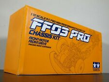 """Rare New Tamiya 1/10 R/C FF03 PRO Chassis Front Motor Drive 2WD """"Discontinued"""""""