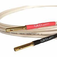 QED ORIGINAL 1 x 4m OFC Speaker Cable AIRLOC Banana Plugs Heatshrink Terminated