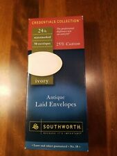 Southworth Ivory Antique 50 ct Envelopes 24lb 25% Cotton Laser Inkjet compatible